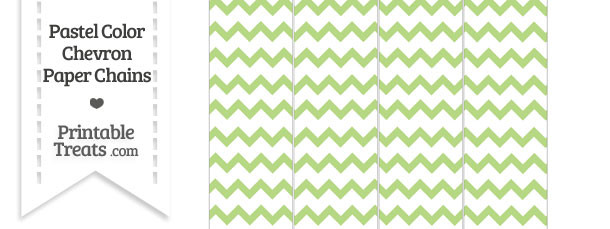 Pastel Light Green Chevron Paper Chains