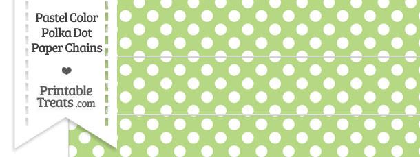Pastel Light Green Polka Dot Paper Chains