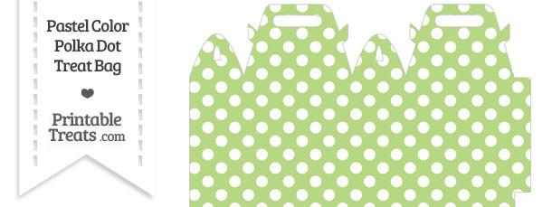 Pastel Light Green Polka Dot Treat Bag