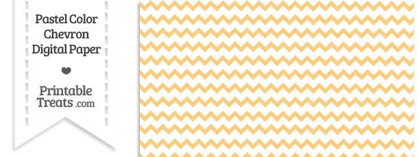 Pastel Light Orange Chevron Digital Scrapbook Paper