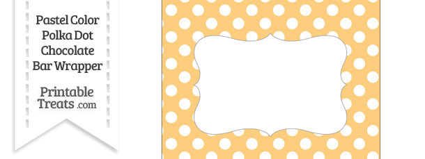 Pastel Light Orange Polka Dot Chocolate Bar Wrappers