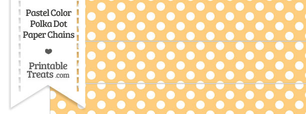 Pastel Light Orange Polka Dot Paper Chains