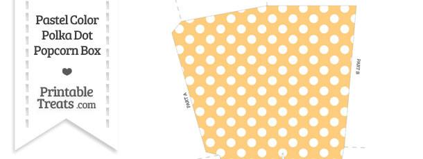 Pastel Light Orange Polka Dot Popcorn Box