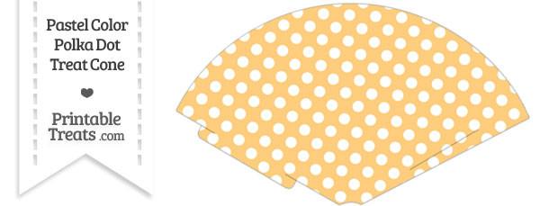 Pastel Light Orange Polka Dot Treat Cone