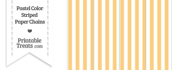 Pastel Light Orange Striped Paper Chains