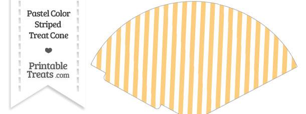 Pastel Light Orange Striped Treat Cone