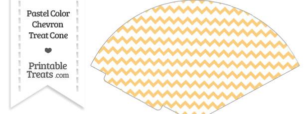 Pastel Light Orange Chevron Treat Cone