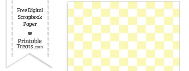 Pastel Light Yellow Checkered Pattern Digital Paper