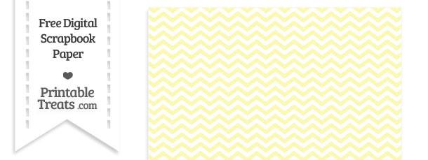 Pastel Light Yellow Chevron Digital Paper