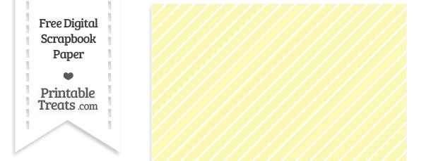 Pastel Light Yellow Diagonal Candy Striped Digital Paper