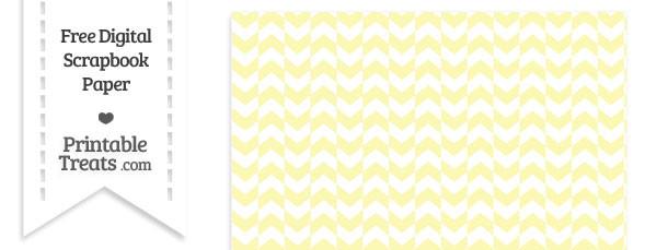 Pastel Light Yellow Herringbone Digital Paper