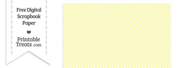 Pastel Light Yellow Mini Polka Dots Digital Paper