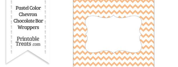 Pastel Orange Chevron Chocolate Bar Wrappers