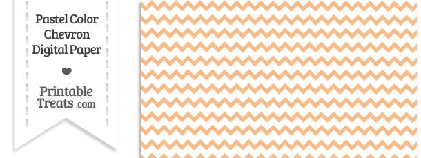 Pastel Orange Chevron Digital Scrapbook Paper