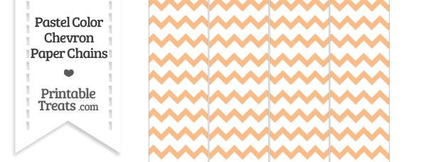 Pastel Orange Chevron Paper Chains