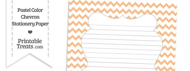 Pastel Orange Chevron Stationery Paper