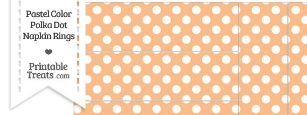 Pastel Orange Polka Dot Napkin Rings