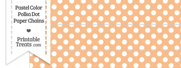 Pastel Orange Polka Dot Paper Chains
