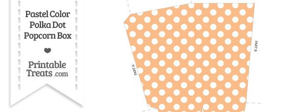 Pastel Orange Polka Dot Popcorn Box