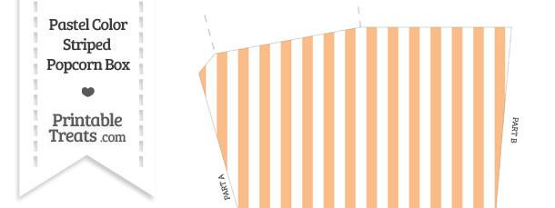 Pastel Orange Striped Popcorn Box