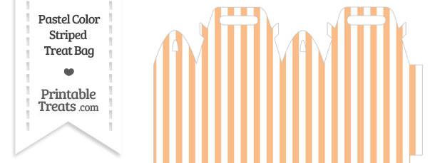 Pastel Orange Striped Treat Bag