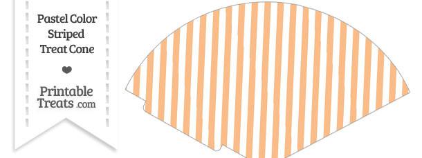 Pastel Orange Striped Treat Cone