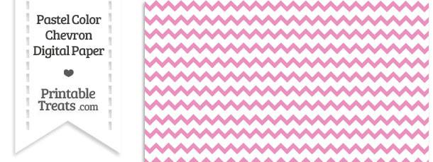 Pastel Pink Chevron Digital Scrapbook Paper