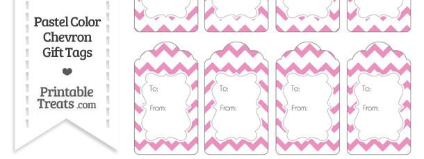 Pastel Pink Chevron Gift Tags