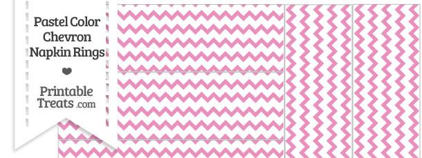 Pastel Pink Chevron Napkin Rings