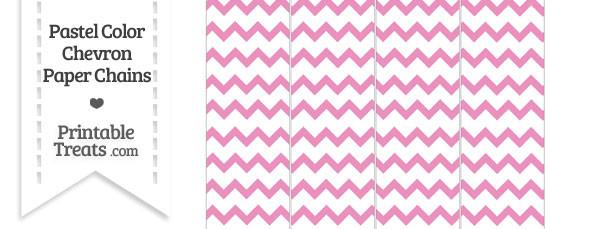 Pastel Pink Chevron Paper Chains