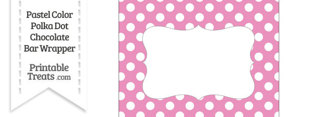 Pastel Pink Polka Dot Chocolate Bar Wrappers