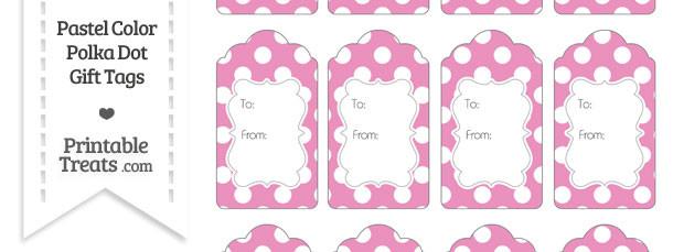 Pastel Pink Polka Dot Gift Tags