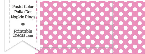 Pastel Pink Polka Dots Napkin Rings