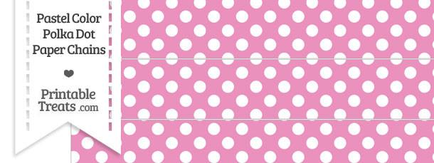 Pastel Pink Polka Dot Paper Chains