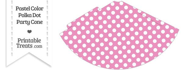 Pastel Pink Polka Dot Party Cone