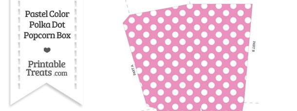 Pastel Pink Polka Dot Popcorn Box