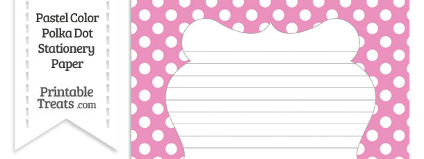Pastel Pink Polka Dot Stationery Paper