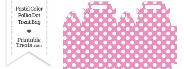 Pastel Pink Polka Dot Treat Bag