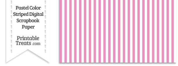 Pastel Pink Striped Digital Scrapbook Paper