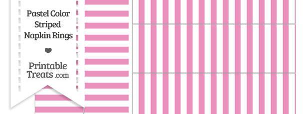 Pastel Pink Striped Napkin Rings