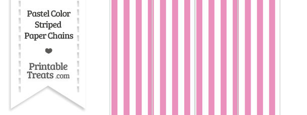 Pastel Pink Striped Paper Chains