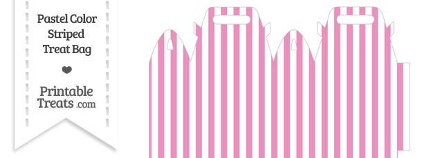 Pastel Pink Striped Treat Bag