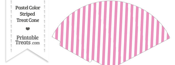 Pastel Pink Striped Treat Cone