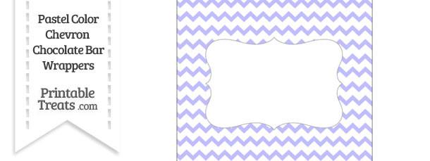 Pastel Purple Chevron Chocolate Bar Wrappers