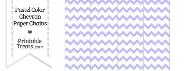 Pastel Purple Chevron Paper Chains