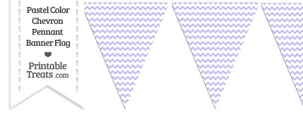 Pastel Purple Chevron Pennant Banner Flag