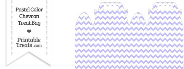 Pastel Purple Chevron Treat Bag