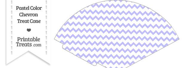 Pastel Purple Chevron Treat Cone