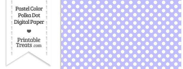 Pastel Purple Polka Dot Digital Scrapbook Paper