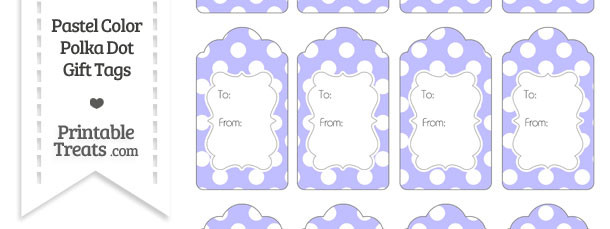 Pastel Purple Polka Dot Gift Tags